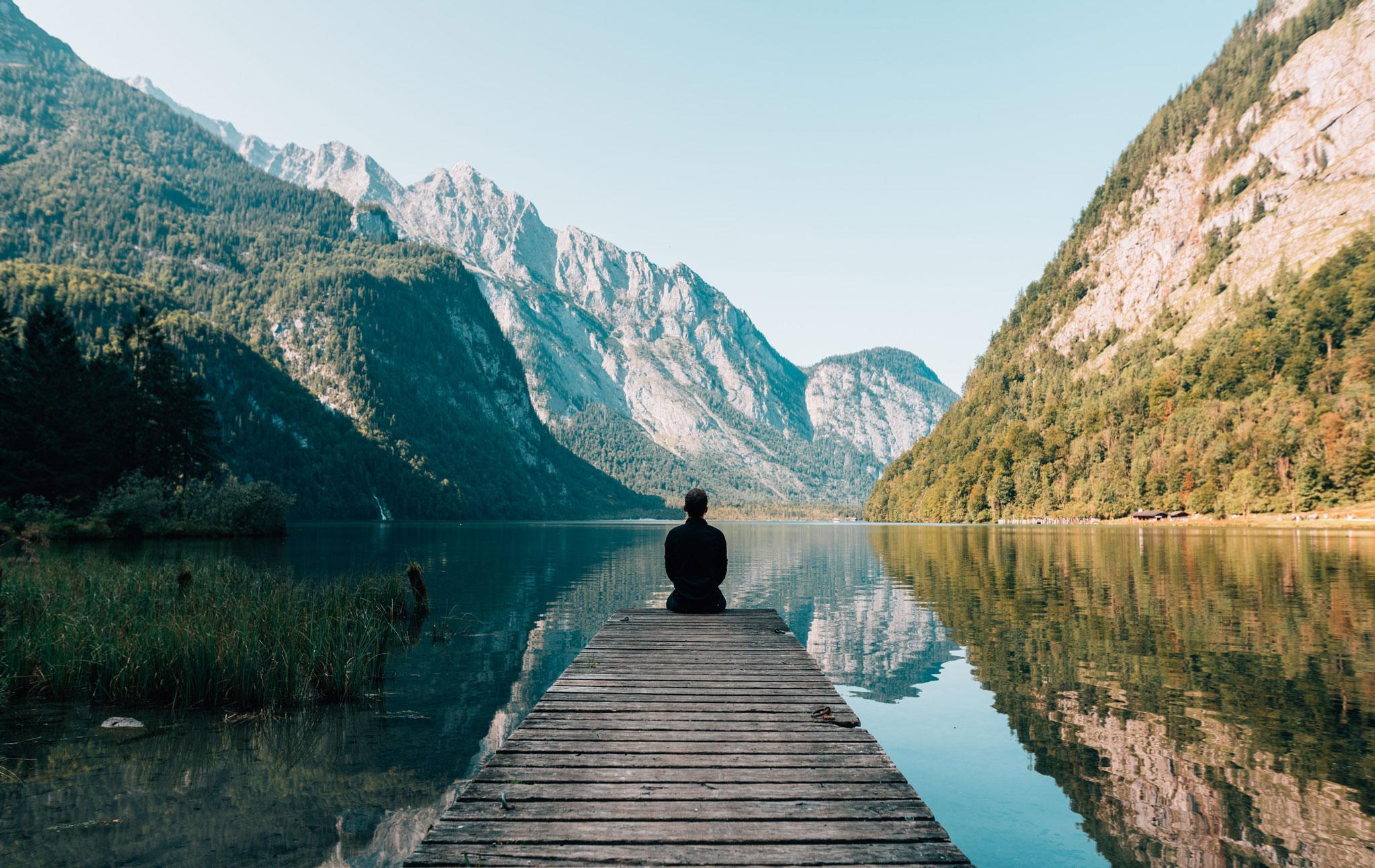 man on lake
